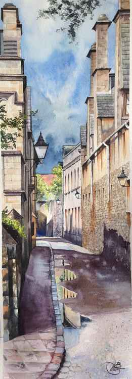OXFORD/original watercolor -