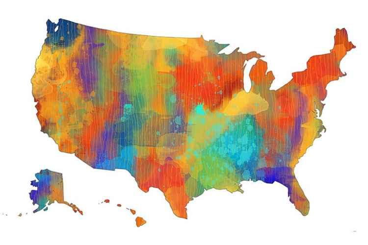 USA Map 2 -