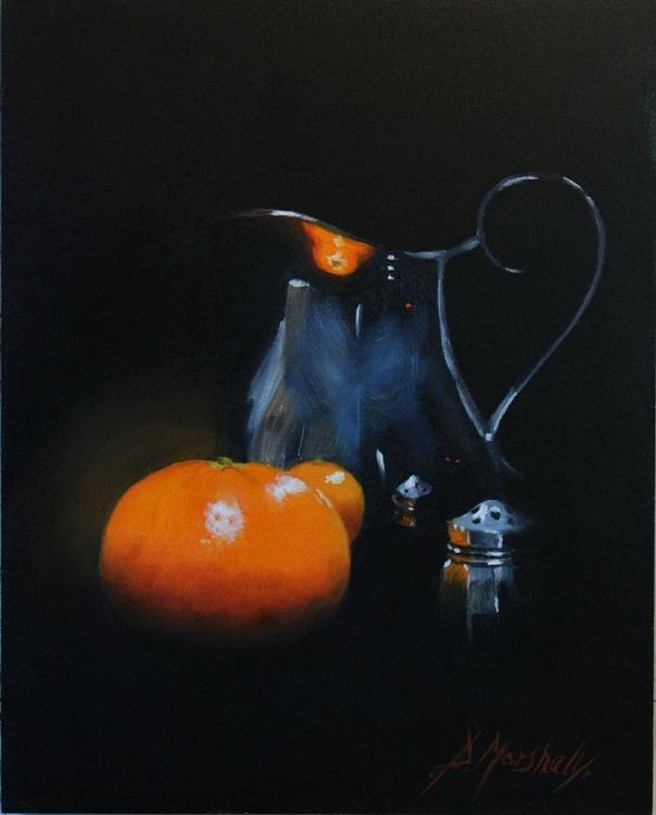 Midnight Mandarine 25 x 20cm  oil on  panel - Image 0