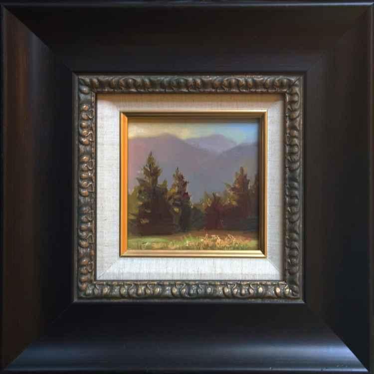 Dawn in the Gorge - Plein Air Original Oil Painting -