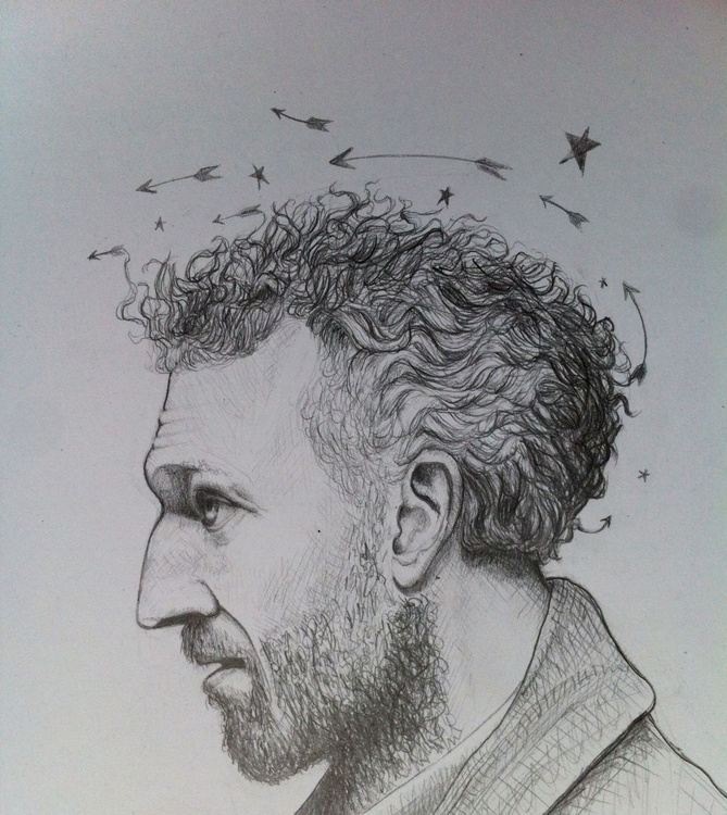 """The Arrow - The stunning"" (Vincent Cassel). Hyper realistic portrait. - Image 0"