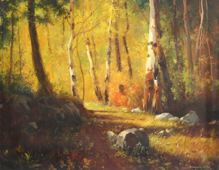 Landscape oil Painting One of a kind Handmade Artwork Realism - Image 0