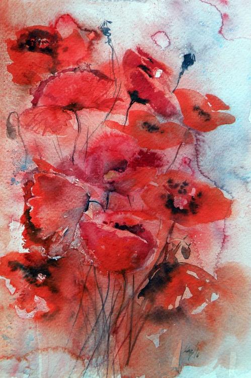 Poppy in red - Image 0