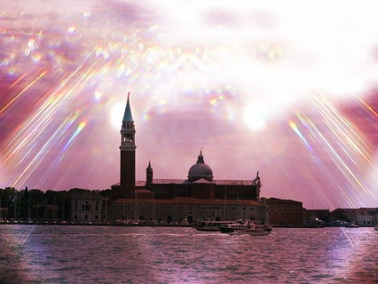 Venice in Italy - 60x80x4cm print on canvas 02442m15 READY to HANG (2016) Manipulated photograph (Giclée) by Kuebler