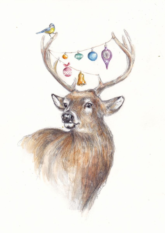 Festive Deer - Image 0