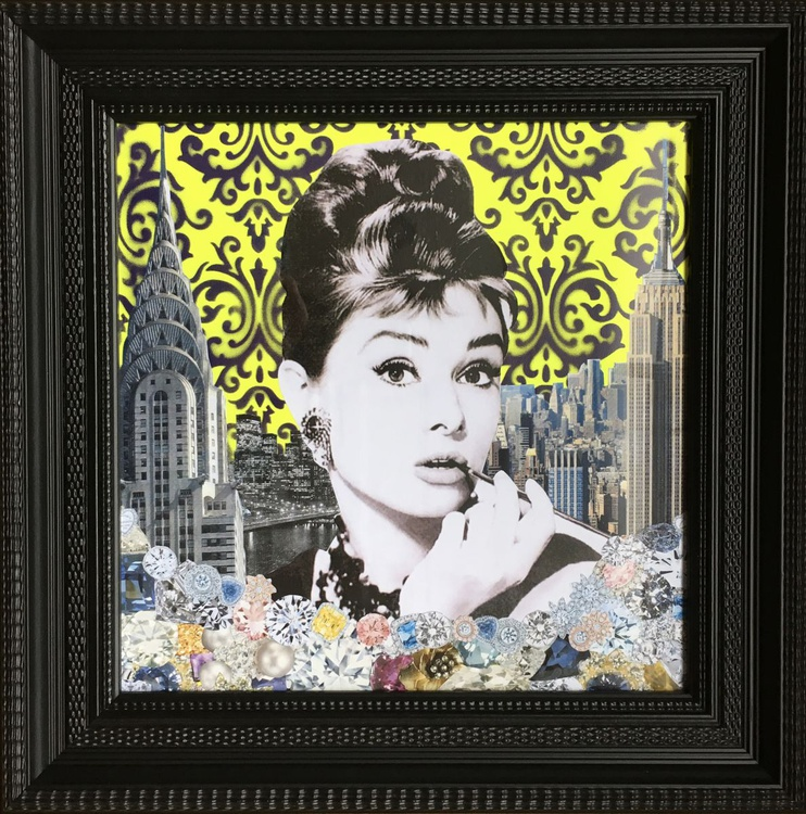 Diamonds are forever - Yellow - Framed - Image 0