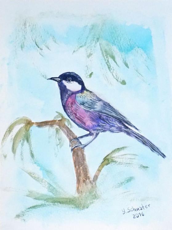 Bird . Watercolor - Image 0