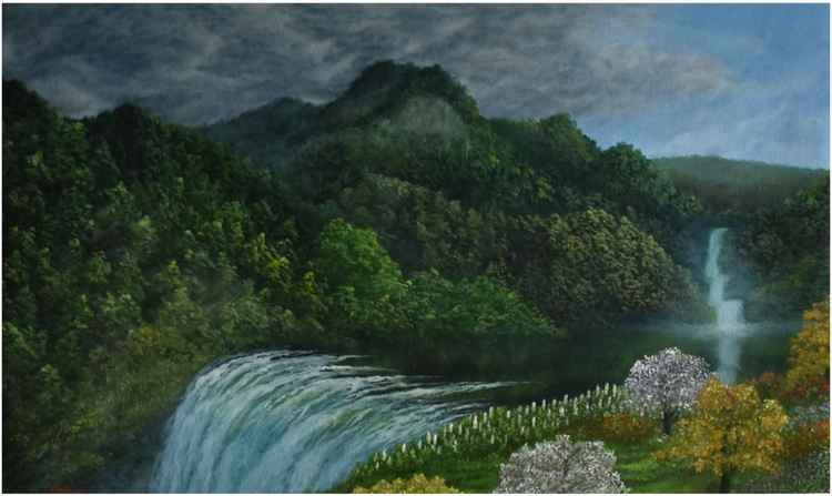 Mountain Range Waterfall