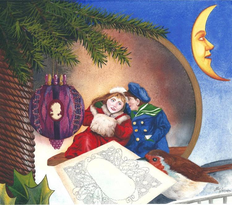 Victorian Christmas Card - Image 0