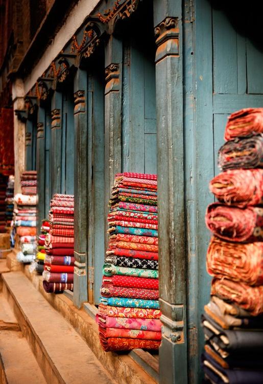 Textile Shop, Bhaktapur. (21x29cm) - Image 0