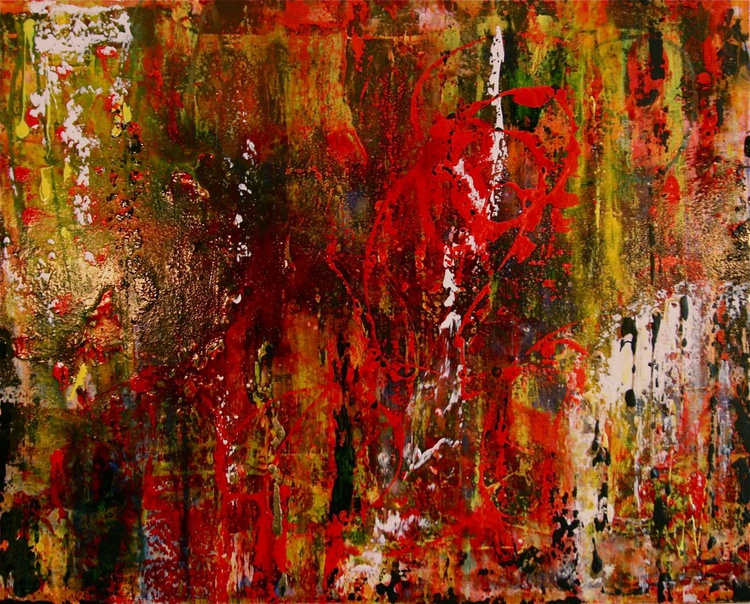 Red Volcano - Layers of Vibrant Colors......Red - Image 0