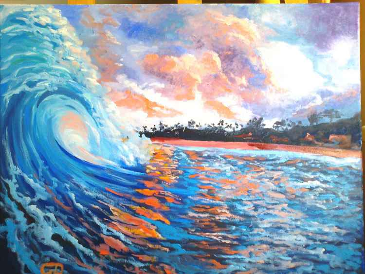 Hawaiian morning shore sunrise