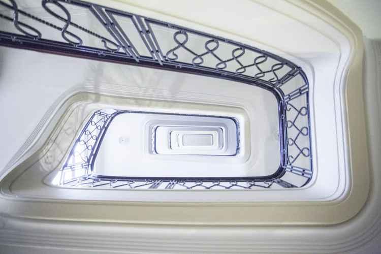 White stairway -