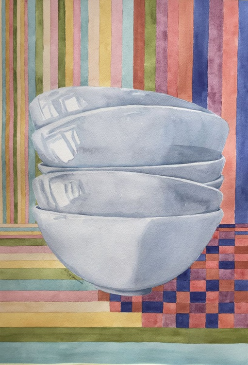 Bowls with geometrical background - Image 0