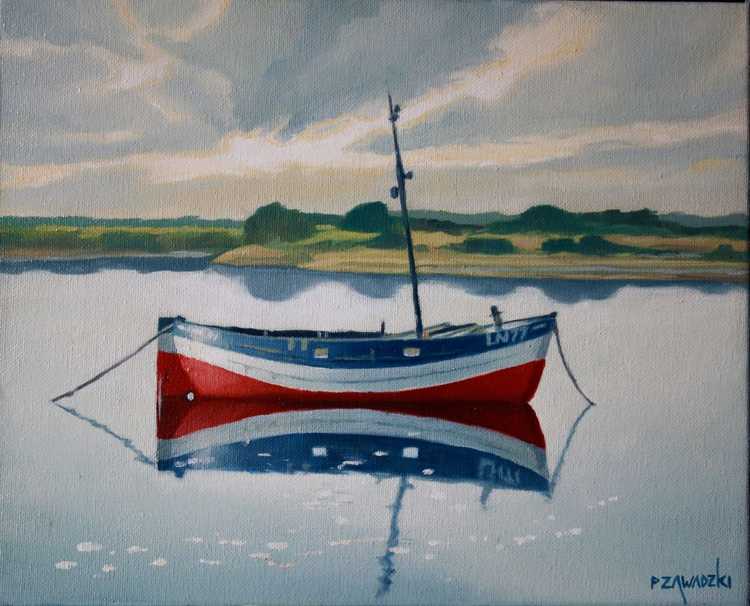 Blue and Red Boat - Image 0