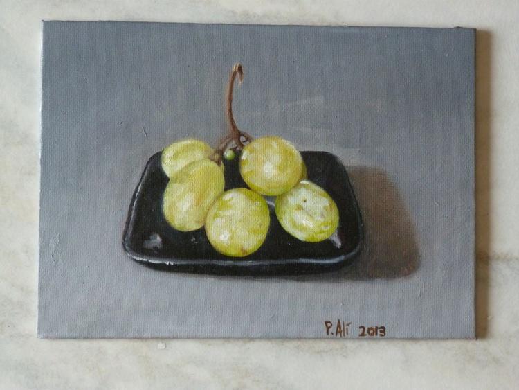 grapes still life oil painting original artwork - Image 0