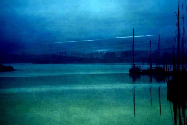 Blue Silence - Canvas 75 x 50 cm - Image 0