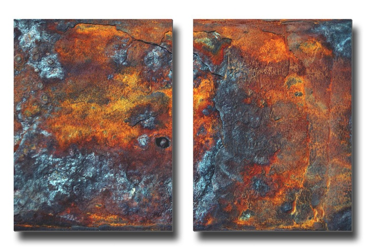Dis/Integration XXII - Diptych- Two 16x12in Aluminium Panels - Image 0