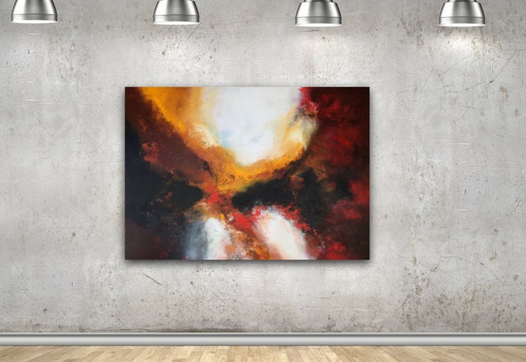 """"""" The soul keeper """"  , Large Painting 40x55inches/100x140cm  abstract painting - Image 0"""