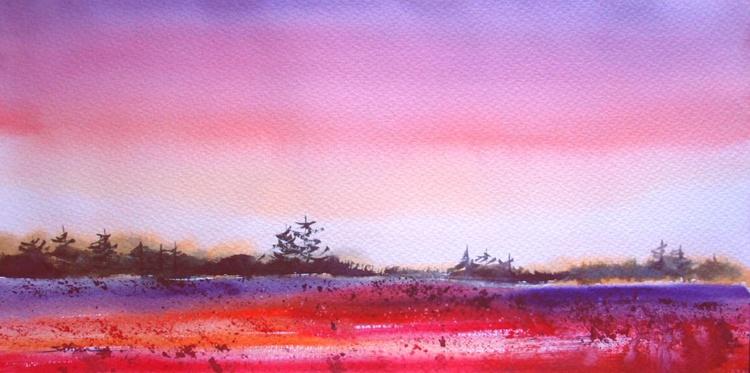 Red landscape - Image 0