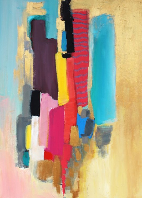 Abstract GOLD on Canvas by Martina Boycheva - Image 0