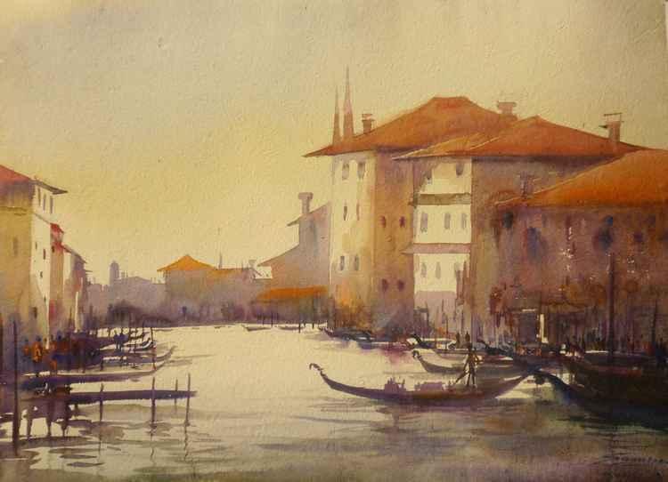 Venice at Morning - Watercolor Painting -