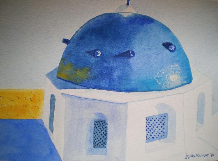 Santorini-The blue dome - Image 0