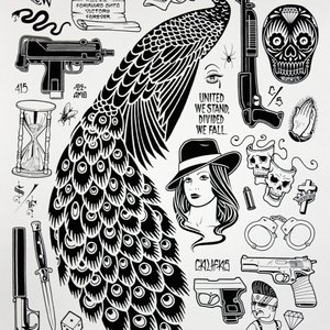 Peacock Print by Mike Giant