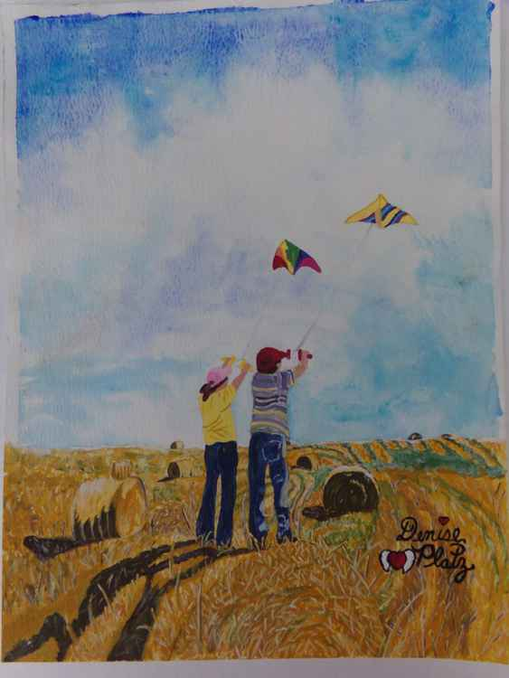Kids, Kites and Haybales -