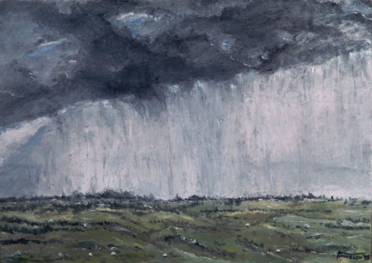 Storm Above the Village - Image 0