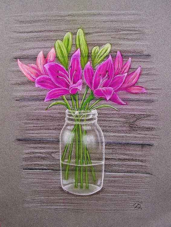 Jar of Lilies -