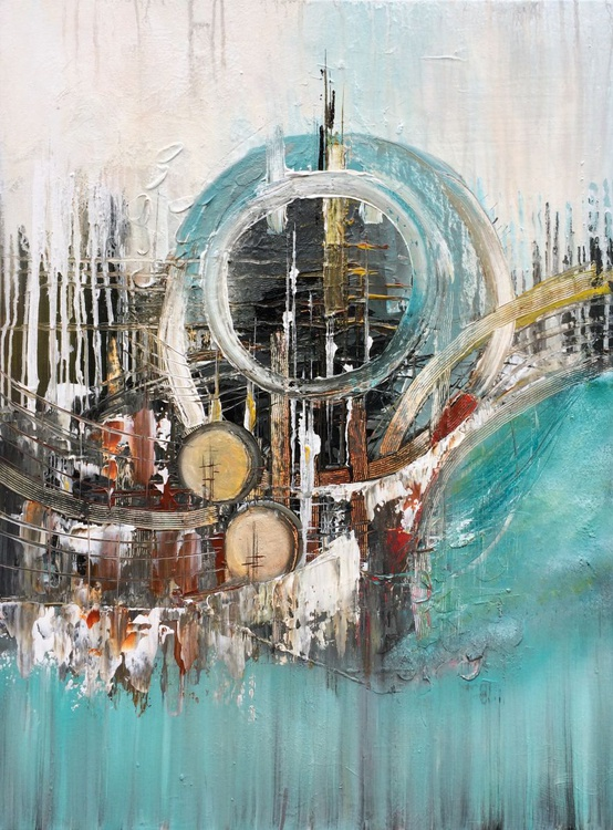 """""""Other Worlds 20"""" ,  Abstract , Acrylic Painting - 24x32 inches - Image 0"""