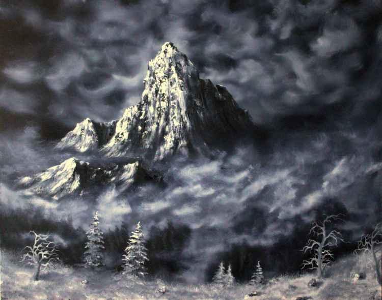 Winter - Misty mountain