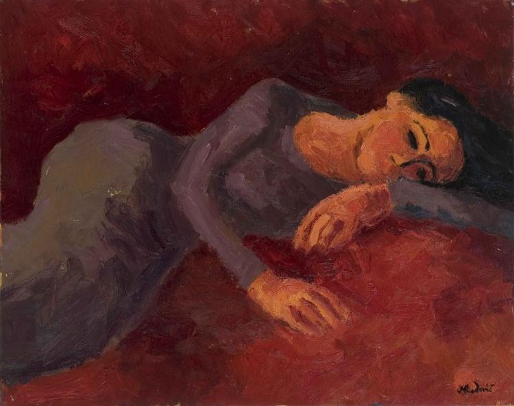 Girl in violet dress - Image 0