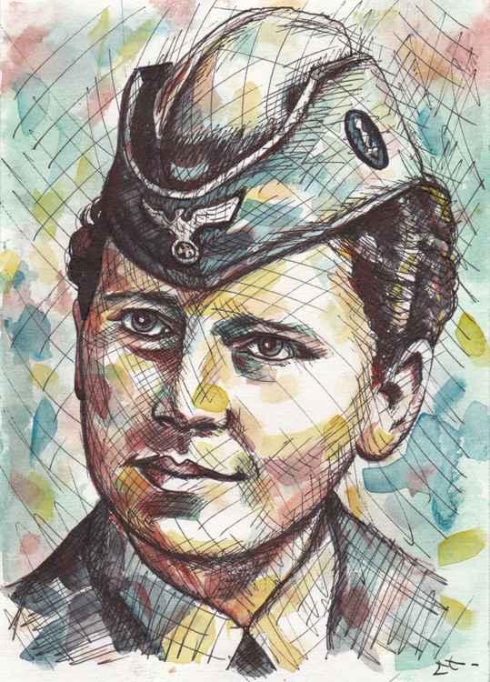 Portrait soldat féminin Luftwaffe ww2 -