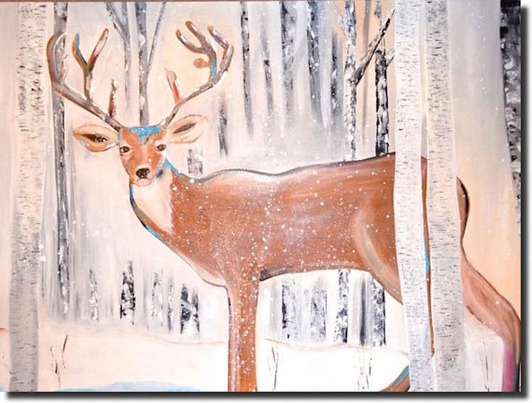 Deer art stag art - doing me - Image 0