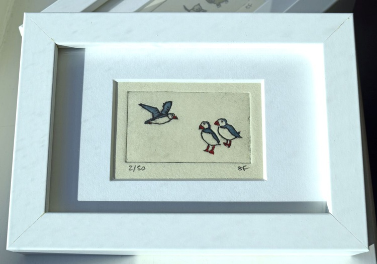 Puffins - small framed print - Image 0