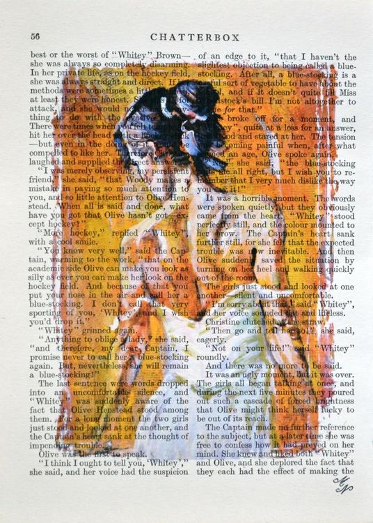 Ballerina on the Vintage Paper - Image 0