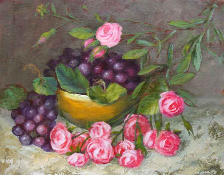 Grapes and Roses
