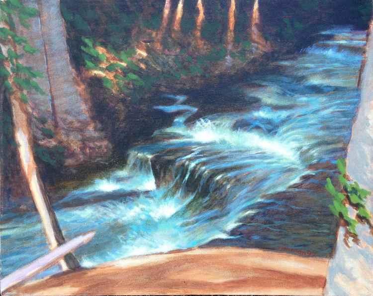 Sahalie Falls Landscape #3 -
