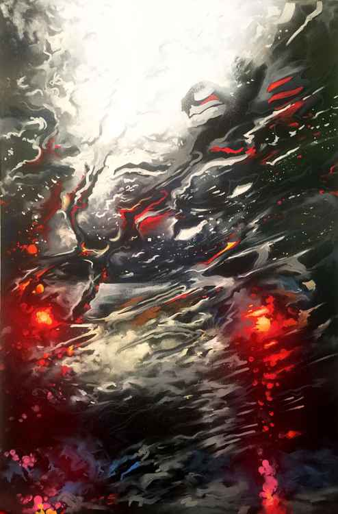 'Driving Rain' - original painting on canvas