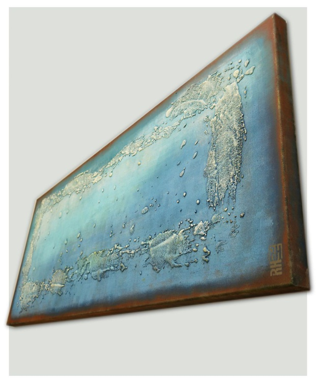 Abstract Painting - Once Turquoise - B9 - Image 0