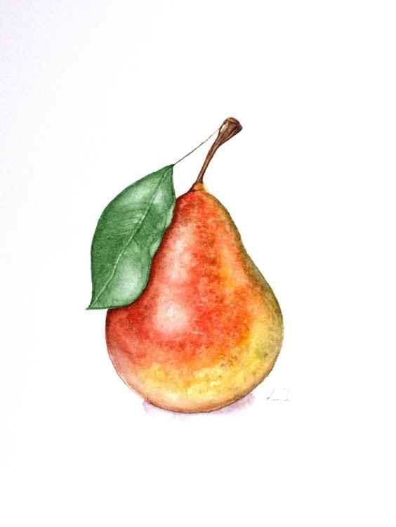 """Original watercolor painting """"Pear"""""""