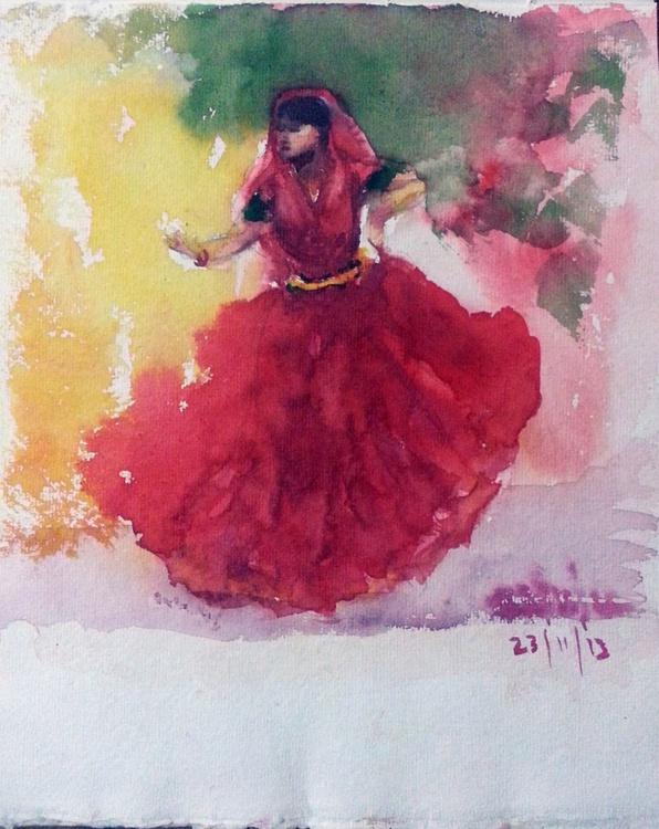 """Gypsy dancer-2 -8""""x 9.5"""" - Image 0"""