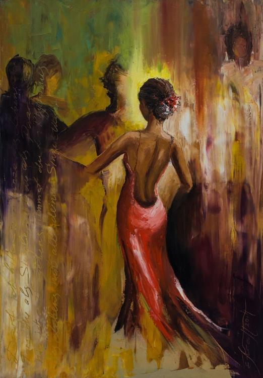 """Shell we dance II""Original oil painting 70x100x2 cm. - Image 0"