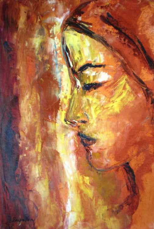 Earth Tones, Impressionist art, Modern Art, Palette Knife Painting Title - Deep -
