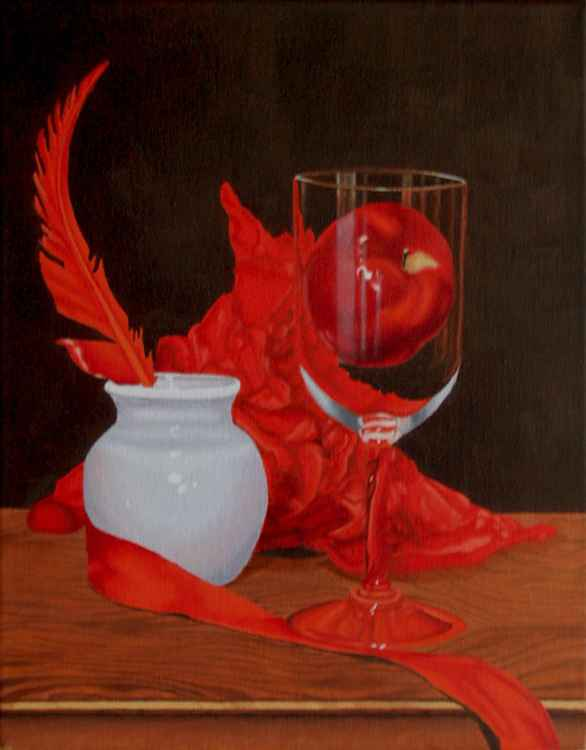 Still Life With Red Apple -