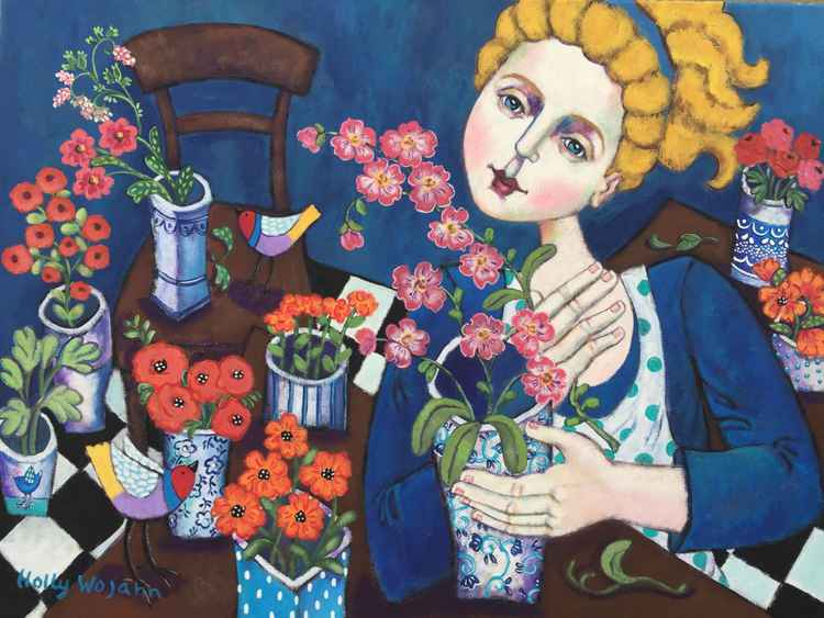 Le  Belle  Fleuriste; Private Commission for Marcie Doyle