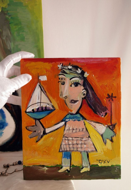 Girl with a boat (inspired by Picasso) - Image 0