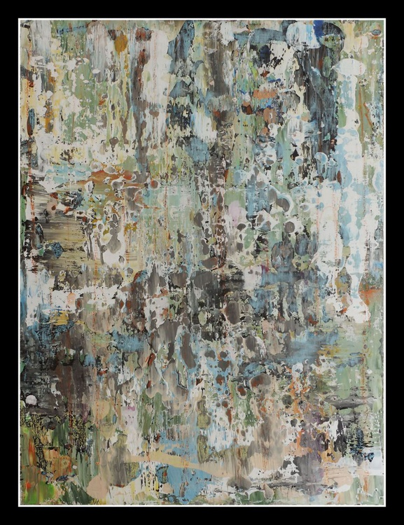 Legacy of an old Culture. Acryl painting on hardwood panel. 80X60 cm. - Image 0